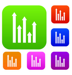 upside growing arrows set collection vector image