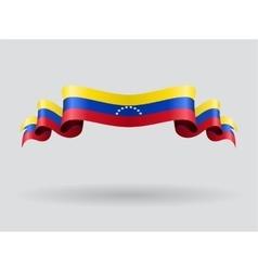 Venezuelan wavy flag vector image vector image