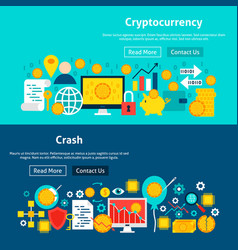 Website cryptocurrency banners vector