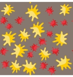 Yellow and red blot cartoon seamless pattern 624 vector image