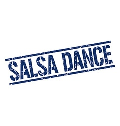 Salsa dance stamp vector