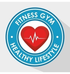 Sport fitness healthy life design isolated vector