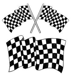 doodle racing flag speed vector image