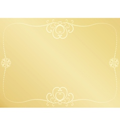 Golden valentines day background vector