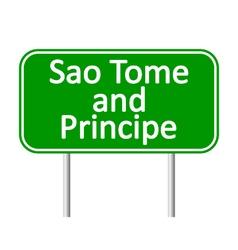 Sao Tome and Principe road sign vector image