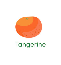 Mandarin and tangerine orange fruit icon cartoon vector