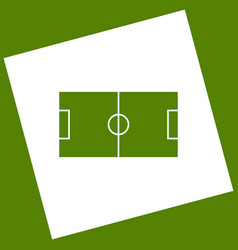 soccer field  white icon obtained as a vector image