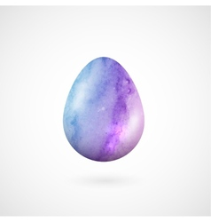 Happy Easter egg isolated on white vector image