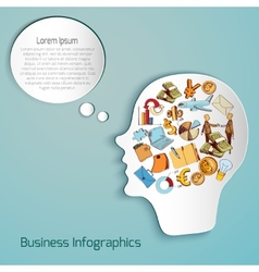 Business Paper Head vector image