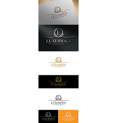 Luxurious logo design vector