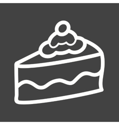 Slice of cake i vector