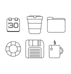 Media design set of silhouette icon vector