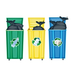Recycling dustbins vector
