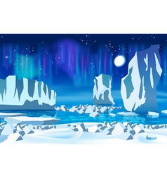 Arctic ice at night vector