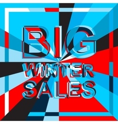 Big ice sale poster with big winter sale text vector