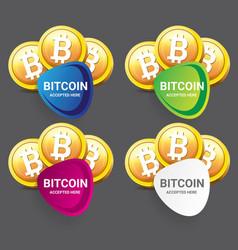 Bitcoin symbol bitcoin icon vector