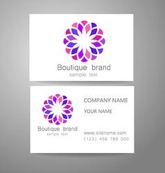 boutique brand logo vector image
