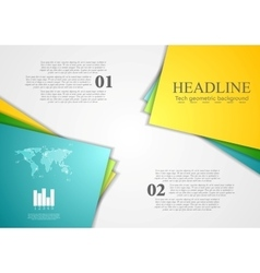 Bright corporate abstract contrast background vector