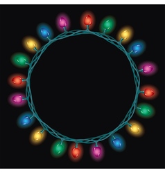 christmas light lamps vector image