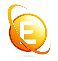 circle globe round letter e abstract vector image vector image