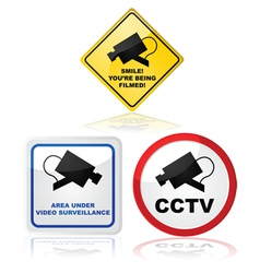 Closed circuit TV vector image