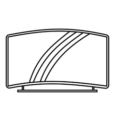 Curved tv icon outline style vector