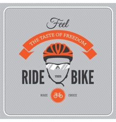 Cycling motivational poster vector