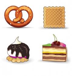 delicious food vector image