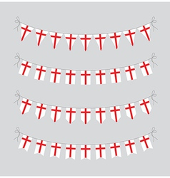 england bunting vector image vector image
