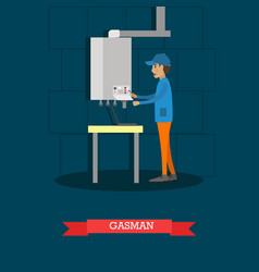 gasman concept in flat style vector image vector image