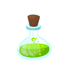 Glass beaker with a poisonous liquid image vector