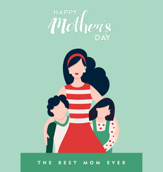 happy mothers day to best mom love quote vector image vector image