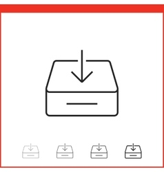 icon of download vector image