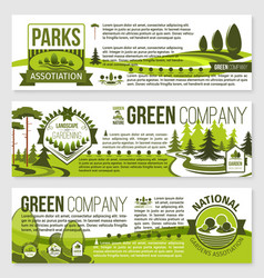landscaping and gardening banner template design vector image vector image