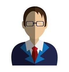 Lawyer character avatar icon vector