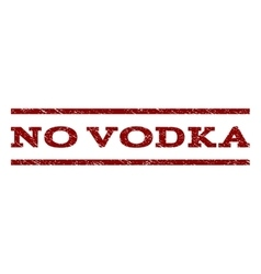 No vodka watermark stamp vector