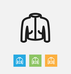 Of trade symbol on jacket vector