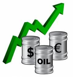 Oil barrels symbols vector