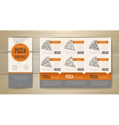 Pizza concept design Corporate identity vector image