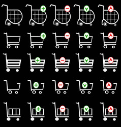 shopping basket set - online shopping cart vector image