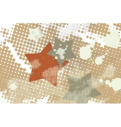 star grunge splash halftone vector image
