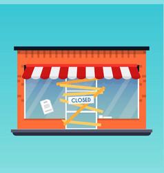 Store shop is closedbankrupt flat design modern vector