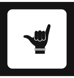 Surfers shaka sign icon simple style vector