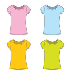 T-shirts for girl vector image