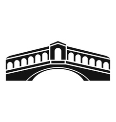 Venice bridge icon simple style vector image vector image