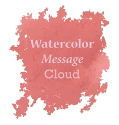Watercolor message cloud vector