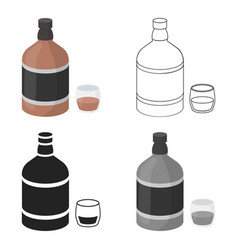 Whiskey icon in cartoon style isolated on white vector