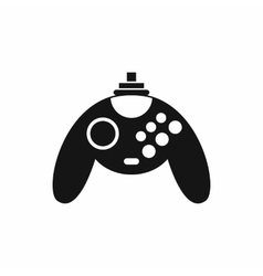 Gamepad icon in simple style vector