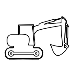 Backhoe heavy machinery pictogram icon image vector