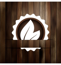 Abstract leaf on wood board  EPS8 vector image